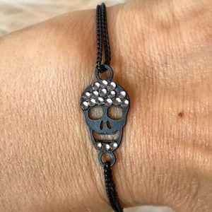 Delicate tiny skull bracelet